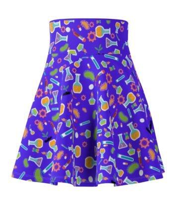 Sci Blue Skater Skirt